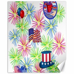 Patriot Fireworks Canvas 16  X 20  (unframed)