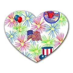 Patriot Fireworks Mouse Pad (Heart)