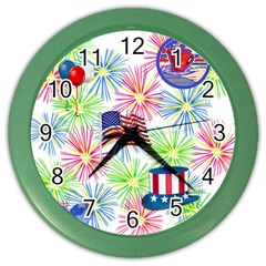 Patriot Fireworks Wall Clock (Color)