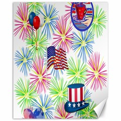 Patriot Fireworks Canvas 11  X 14  (unframed)