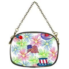 Patriot Fireworks Chain Purse (two Sided)