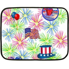 Patriot Fireworks Mini Fleece Blanket (two Sided)