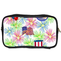 Patriot Fireworks Travel Toiletry Bag (one Side)