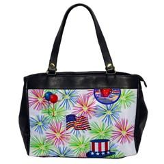 Patriot Fireworks Oversize Office Handbag (one Side)