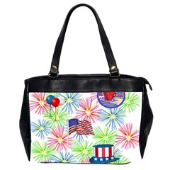 Patriot Fireworks Oversize Office Handbag (two Sides)