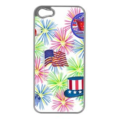 Patriot Fireworks Apple iPhone 5 Case (Silver)