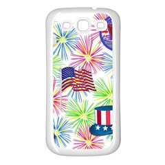 Patriot Fireworks Samsung Galaxy S3 Back Case (White)