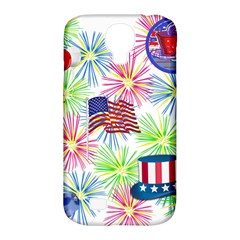 Patriot Fireworks Samsung Galaxy S4 Classic Hardshell Case (PC+Silicone)