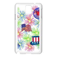 Patriot Fireworks Samsung Galaxy Note 3 N9005 Case (White)