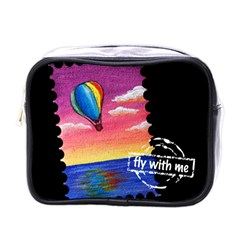 Trips In Hot Air Mini Travel Toiletry Bag (one Side)