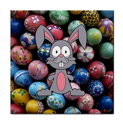 Easter Egg Bunny Treasure Ceramic Tile