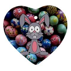 Easter Egg Bunny Treasure Heart Ornament