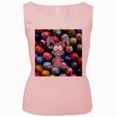 Easter Egg Bunny Treasure Women s Tank Top (Pink)