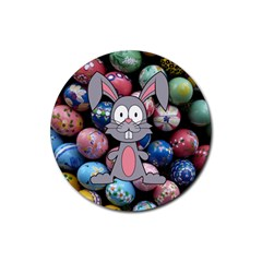 Easter Egg Bunny Treasure Drink Coasters 4 Pack (Round)