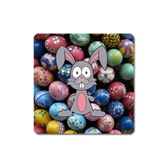 Easter Egg Bunny Treasure Magnet (Square)