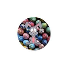 Easter Egg Bunny Treasure Golf Ball Marker
