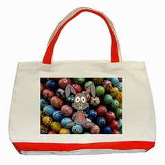 Easter Egg Bunny Treasure Classic Tote Bag (Red)