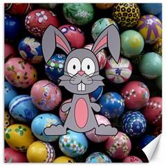 Easter Egg Bunny Treasure Canvas 16  x 16  (Unframed)