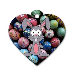 Easter Egg Bunny Treasure Dog Tag Heart (Two Sided)