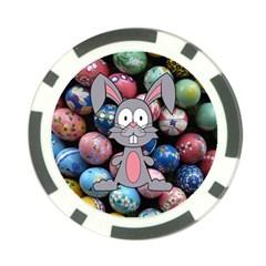 Easter Egg Bunny Treasure Poker Chip