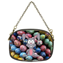 Easter Egg Bunny Treasure Chain Purse (one Side)