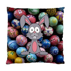 Easter Egg Bunny Treasure Cushion Case (Two Sided)