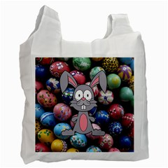 Easter Egg Bunny Treasure White Reusable Bag (Two Sides)