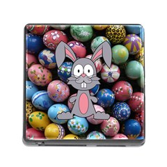 Easter Egg Bunny Treasure Memory Card Reader With Storage (square)