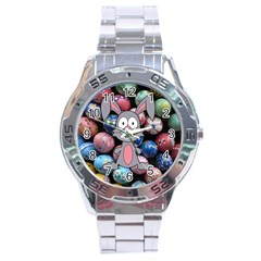 Easter Egg Bunny Treasure Stainless Steel Watch
