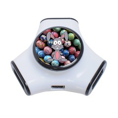 Easter Egg Bunny Treasure 3 Port USB Hub
