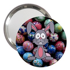 Easter Egg Bunny Treasure 3  Handbag Mirror