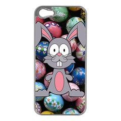Easter Egg Bunny Treasure Apple iPhone 5 Case (Silver)