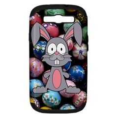 Easter Egg Bunny Treasure Samsung Galaxy S Iii Hardshell Case (pc+silicone)