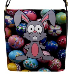 Easter Egg Bunny Treasure Flap Closure Messenger Bag (small)