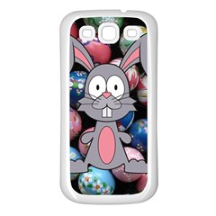 Easter Egg Bunny Treasure Samsung Galaxy S3 Back Case (White)