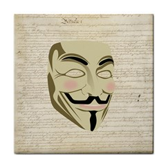 We The Anonymous People Ceramic Tile