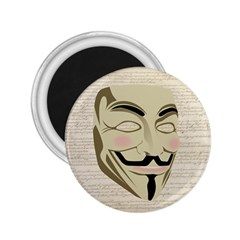 We The Anonymous People 2 25  Button Magnet