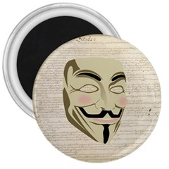We The Anonymous People 3  Button Magnet