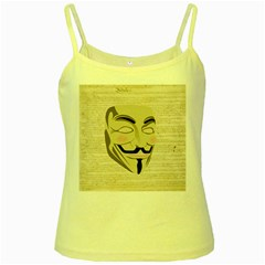 We The Anonymous People Yellow Spaghetti Tank