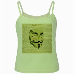 We The Anonymous People Green Spaghetti Tank