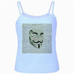We The Anonymous People Baby Blue Spaghetti Tank