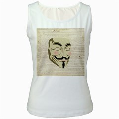 We The Anonymous People Women s Tank Top (White)