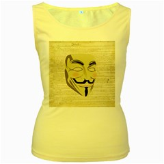 We The Anonymous People Women s Tank Top (Yellow)