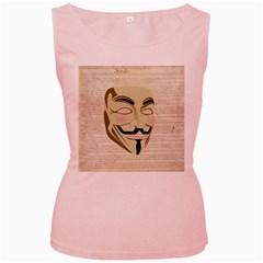 We The Anonymous People Women s Tank Top (Pink)