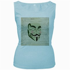 We The Anonymous People Women s Tank Top (Baby Blue)