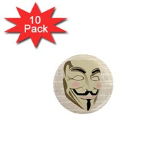 We The Anonymous People 1  Mini Button Magnet (10 pack)