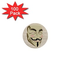We The Anonymous People 1  Mini Button (100 pack)