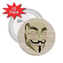 We The Anonymous People 2 25  Button (10 Pack)