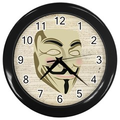 We The Anonymous People Wall Clock (Black)