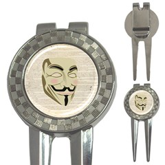 We The Anonymous People Golf Pitchfork & Ball Marker